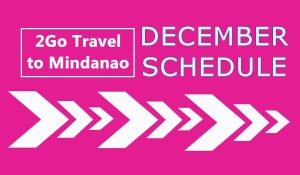2Go Travel December Schedule