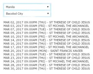 2GO Manila to Bacolod Schedule