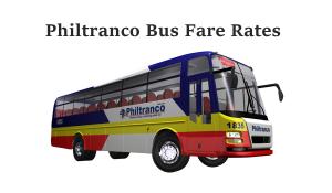 Philtranco bus ticket price