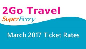 Superferry ticket rate 2017