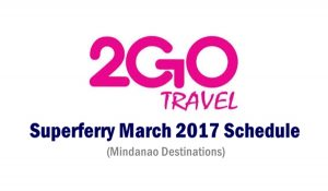 2go sched for Mindanao 2017