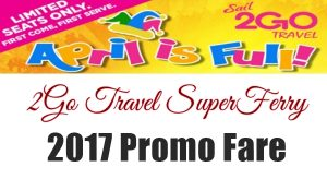 2go travel ferry promo 2017