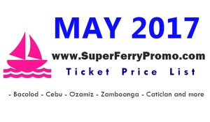 may 2017 2go travel ticket price