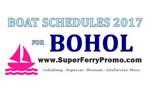 schedules of boats for bohol 2017