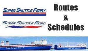 super shuttle roro ferry schedules