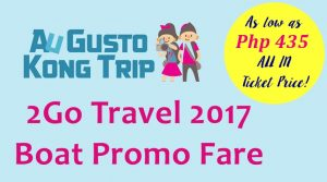 2go travel boat promo september to december 2017