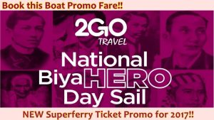 2go travel ferry promo fare september to december 2017