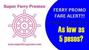 travel mart 2go travel superferry 5 pesos crazy sale