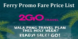 2go travel promo ticket price list 2018