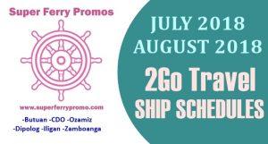 2go travel ferry schedule 2018 mindanao ozamiz cdo zamboanga