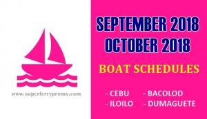 2go travel promo website boat schedule for september 2018 and october 2018