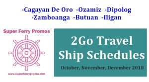 2go travel superferry october november december 2018 schedules