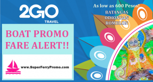 2go travel boat promo fare 2019