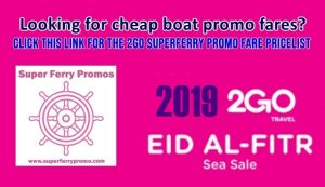 superferry 2go travel promo tickets manila bacolod davao and more 2019 2go boat promo fare