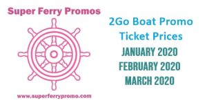Looking for the cheapest 2Go Travel boat promos for 2020? If you are looking to save on your next trip then check the Superferry promo fare prices on this post for the January to March sail dates where our Super Ferry promos team also did some sample 2Go promo online booking.